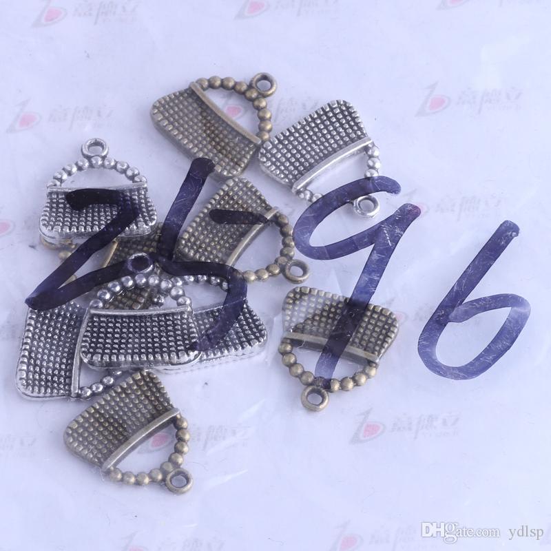 Mini sacs charme antique argent / bronze en alliage de Zinc 16.3 * 15mm pendentif DIY Bijoux fit Bracelets Collier / 2496