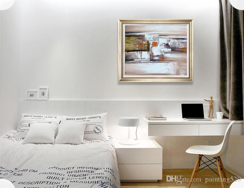 Durable Modern Living Room Bedroom Study Walkway Simple Decorative Style Abstract Series Canvas Oil Painting High Quality Painting JL404