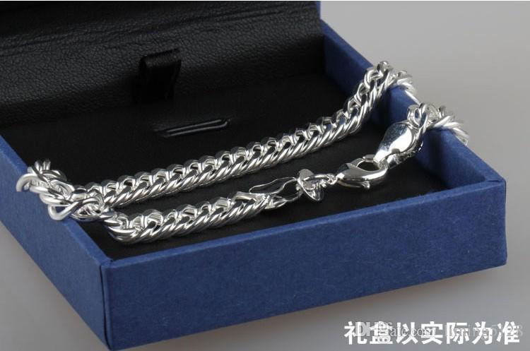 Pure 925 Silver Bracelet Male 925 Silver Bracelet Quirt Chain Bracelet