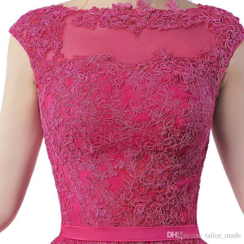 Robe Longue Robe Robe Festa Longo Noite Casamento Rose Chaude En Mousseline De Soie Robe De Bal Bon Marché Robes De Soirée Fabriqué En Chine