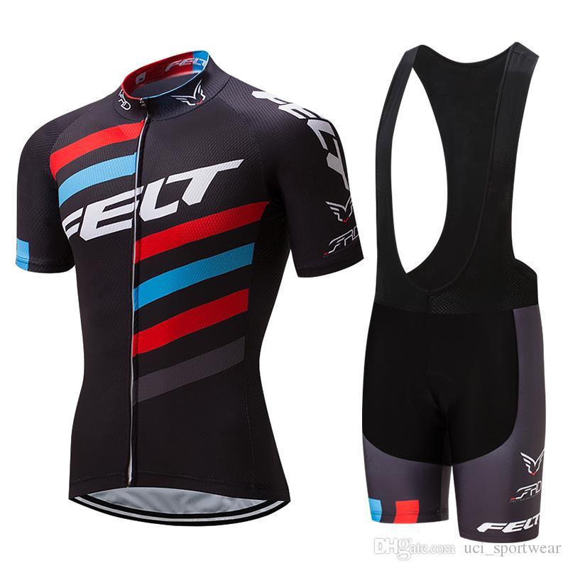 Felt ciclismo maglia pro bici breve SET MTB Ropa Ciclismo Pro Cycling USURA mens BICICLETTA Maillot Culotte