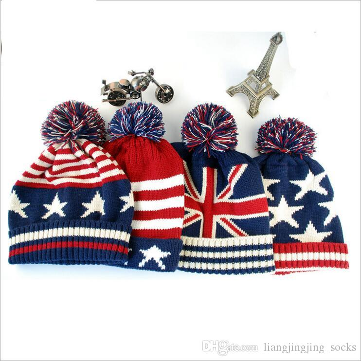 Top Quality Fashion U.S.A American Flag Beanie Hat.Wool Thicken Warm Knitted  Caps 2850baf3013