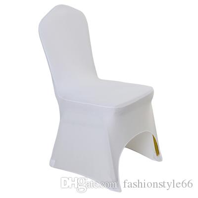 High quality Universal White Polyester Spandex Wedding Chair Covers for Weddings Banquet Folding Hotel Decoration Decor
