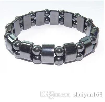 Noir Hématite Magnétique Perles Bracelets Mode Noir Magnétique Hématite Perles Bracelet pour hommes femmes Vintage Bracelets Bracelets