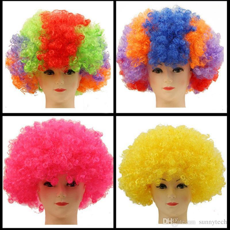 Clown Fans Carnival Wig Cosplay Circo Divertente Fancy Dress Stage Joker Adulto Bambino Costume Parrucca di Capelli Festive Prop ZA4988
