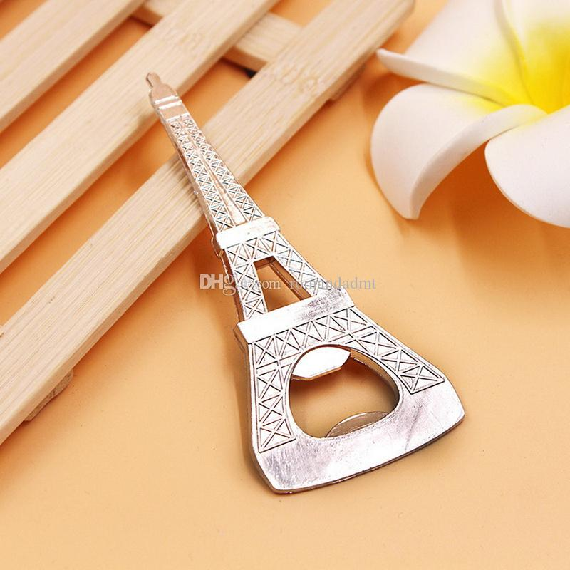 Creative novelty party items The Eiffel Tower beer bottle opener wedding favors gift box packaging DHL
