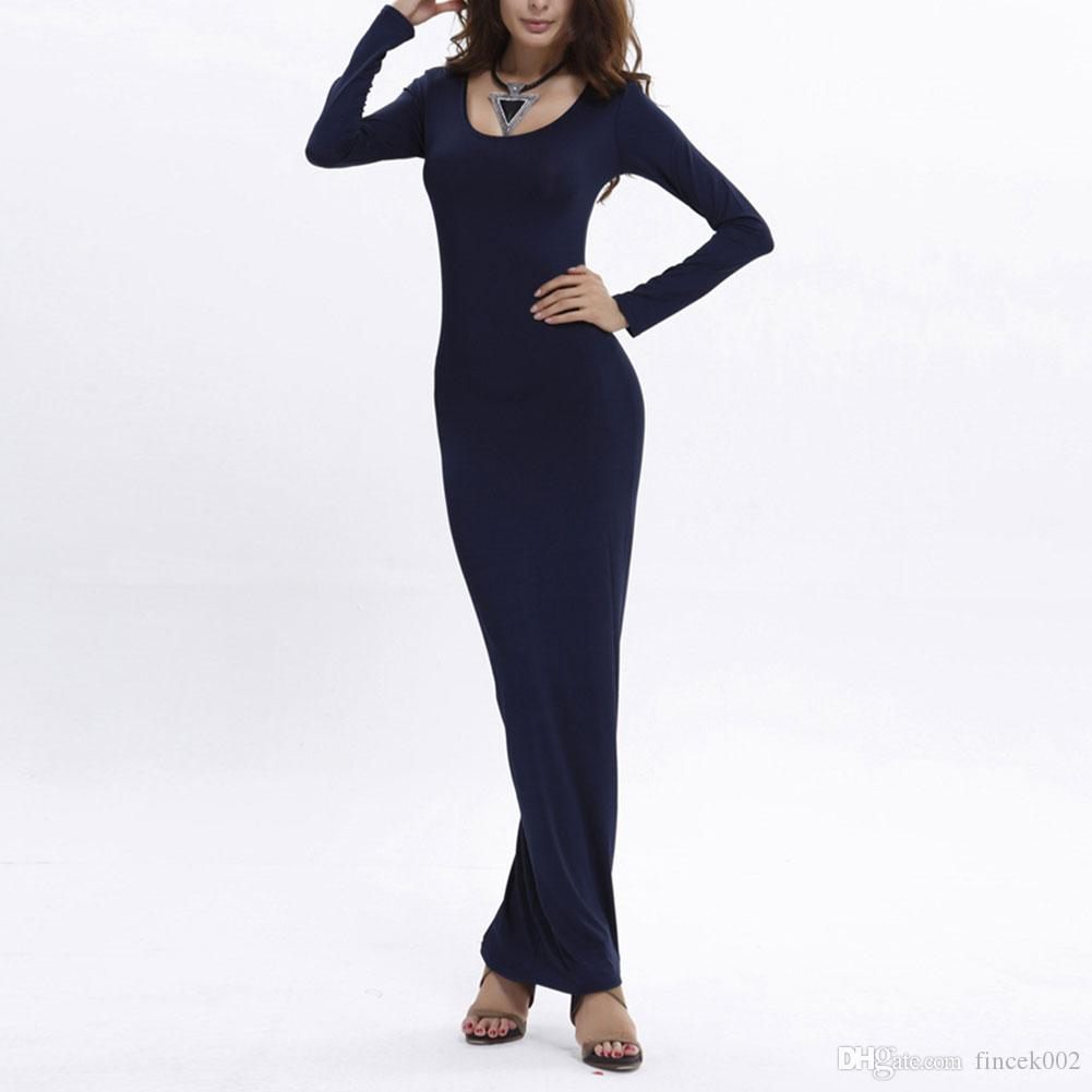 077ff7a8a5 Women Lady Boho Beach Plus Size Bodycon O Neck Long Sleeve Sexy Chic Long  Maxi Dress Red/Navy Blue/Orange Long Dress Striped Light Purple Dresses For  ...
