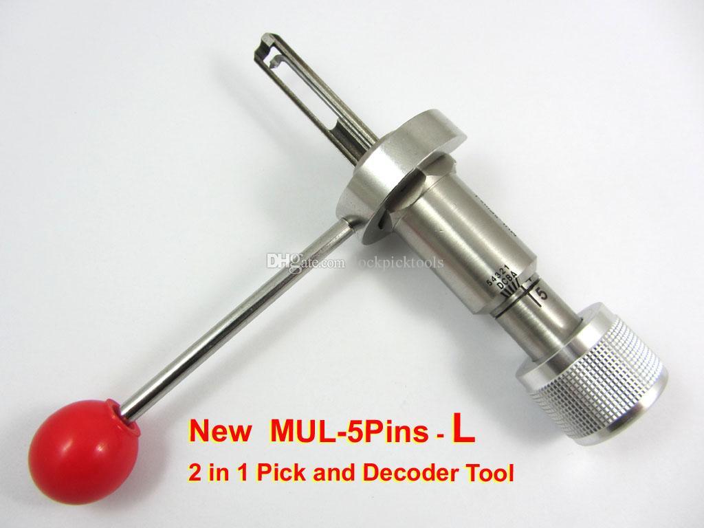 HH Nuovo MUL-T-LOCK 5 Pin R o L decoder e pick tool fabbro tool lockpick spedizione gratuita