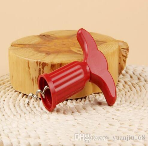 Cucina Bar Plastica Bottiglia di vino rosso Apri dispositivo Plug Champagne Uva Metallo trapano Cavatappi Strumenti Home Accessori creativi G805