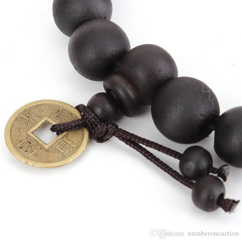 Fashion New Unisex Women Boys Men's Wood Buddha Buddhist Prayer Bead Tibet Bracelet Mala Bangle Wrist Ornament