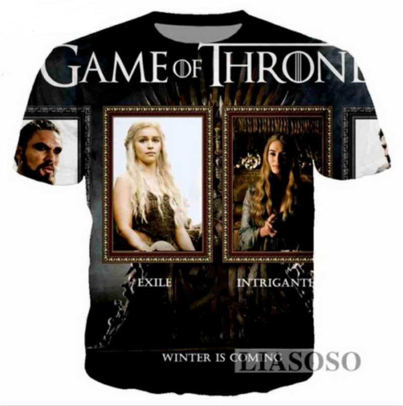 Compre Nueva Moda Mujeres   Hombres Juego De Tronos Divertido 3D Print Casual  Camiseta HT886 A  8.69 Del Fjb272211689  407d11f8a0691