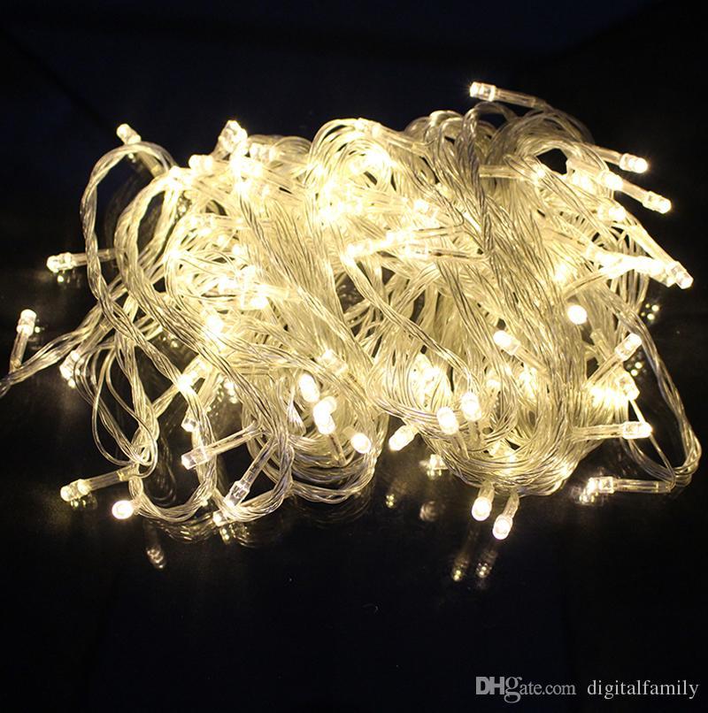 200M 200 mètres de Noël de Noël de 10 mètres 100LED 100 LED Guirlandes fenêtre flash rideau vacances lumière LED Light par DHL