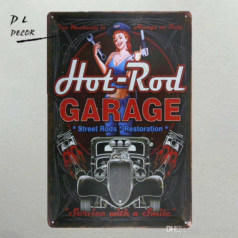 Garage Wall Art dl hot rod garage metal sign vintage crosses wall decor home decor