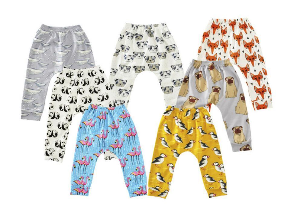 2017 Automne Date Leggings Garçons Filles Bébé Pantalon Pour Enfants De Bande Dessinée Animaux Imprimer Pantalon Tout-petit Enfants Vêtements Boutique Infantile Vêtements