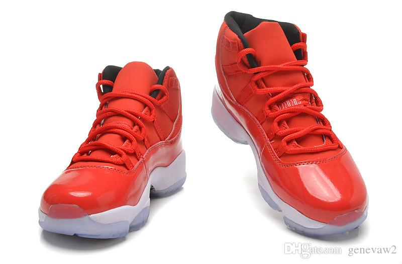 11 XI All Red Sneakers Man Women Basketball Shoes Good Quality ... d417c9023d10
