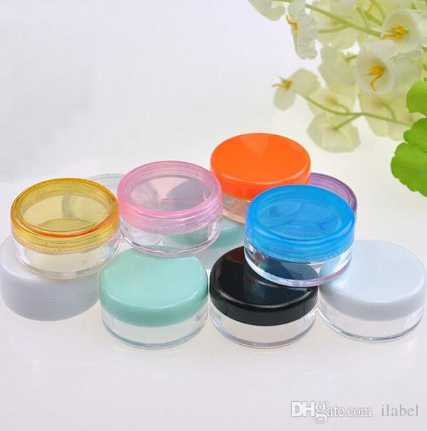 Scatole di crema di colore misto 5G vasetto crema, vasetti crema occhi, flaconi ombretti, contenitori cosmetici, flacone campioni