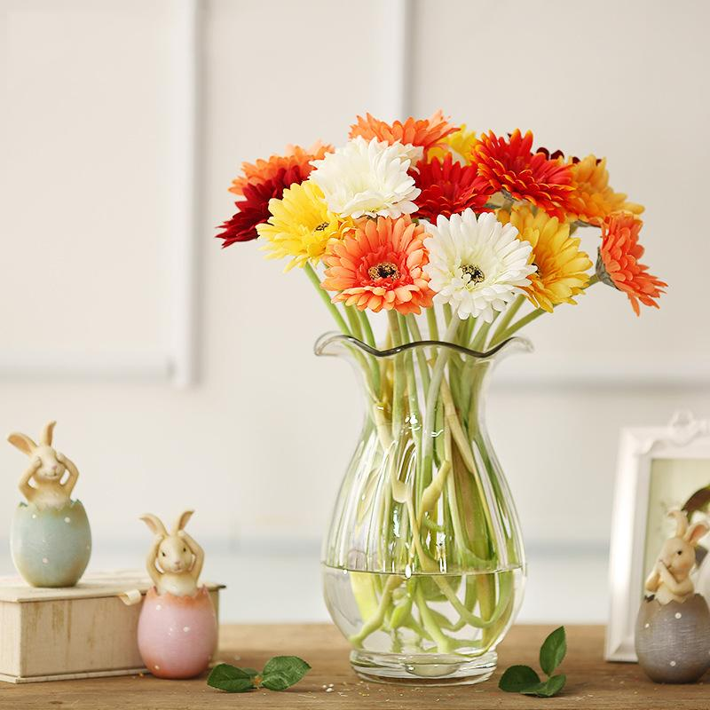 Artificial Flower With Option Gerbera Fake Silk Flowers Colorful for Birthday wedding Party Home Decoration 105 - 1004