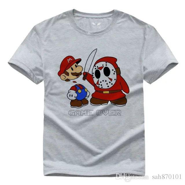 Jason X Mario /Diy Men And Women T Shirts Pure Cotton Fashion T ...