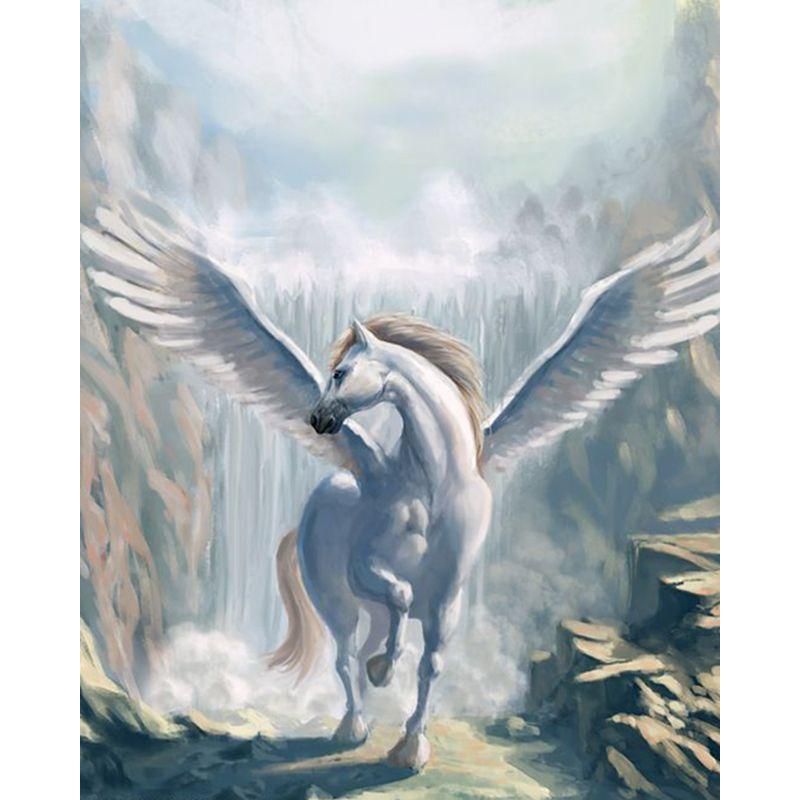 Satın Al Kanatlı At Pegasus Diy Elmas Boyama Ev Duvar Dekor 5d Elmas