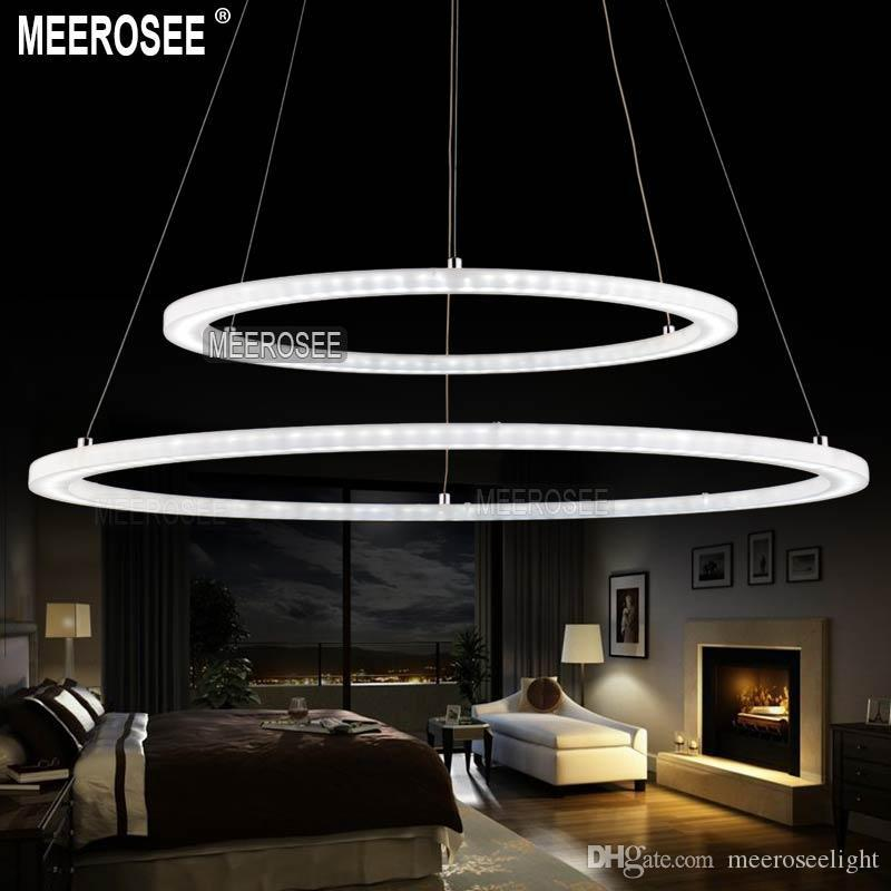 Modern LED Ring Chandelier Light Fixture LED Circle Suspension Light High  Quality White Acrylic Chandeliers Lighting MD5000 Series Chandelier Light  ... 2b19bdb670