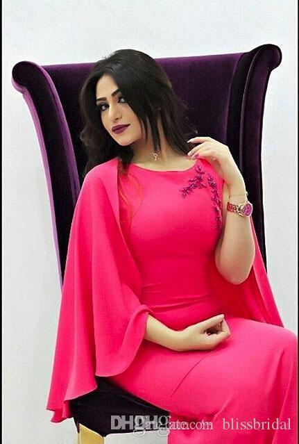 I vestiti da sera 2016 dal fodero caldo rosa di Medio Oriente si vestono da pavimento di lunghezza con gli abiti di promenade della signora di appliques dell'involucro