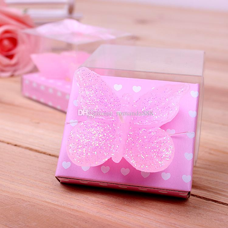 Pink Butterfly Candle Wedding Favors Gift Birthday Party Baby Shower Candle  Gift Wedding Candle Favor DHL Pink Butterfly Candle Baby Shower Candle  Wedding ...