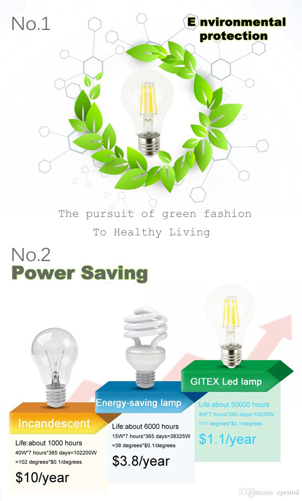 Edison G45 LED globe bulb Lamp 2W 4W 6W E27 E14 COB Filament Light Warm White/White for glass lamp chandelier indoor lighting