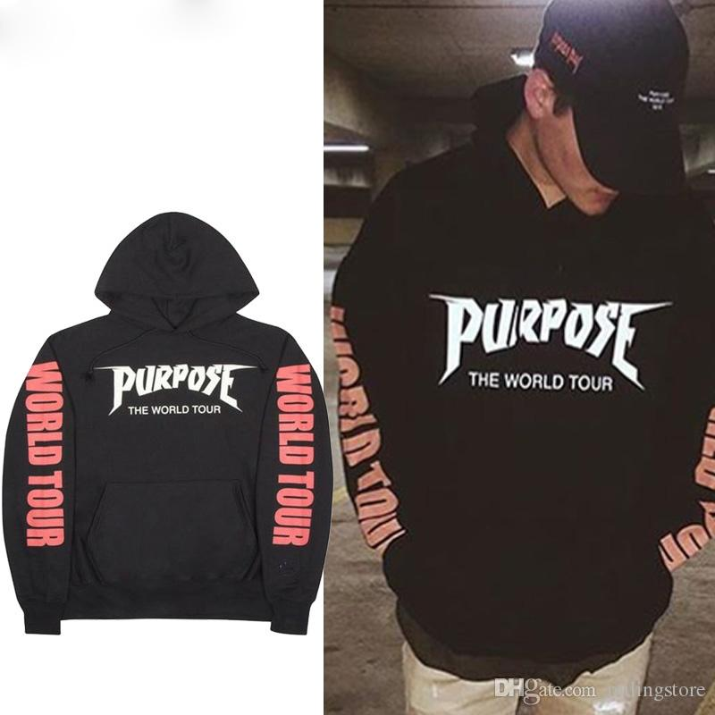 a380525ee43e 2019 Purpose Tour World Tour Hoodies Men Justin Bieber Purpose Tour  Streetwear Brand Sweatshirts Men Swag Tyga Hoodie From Milingstore