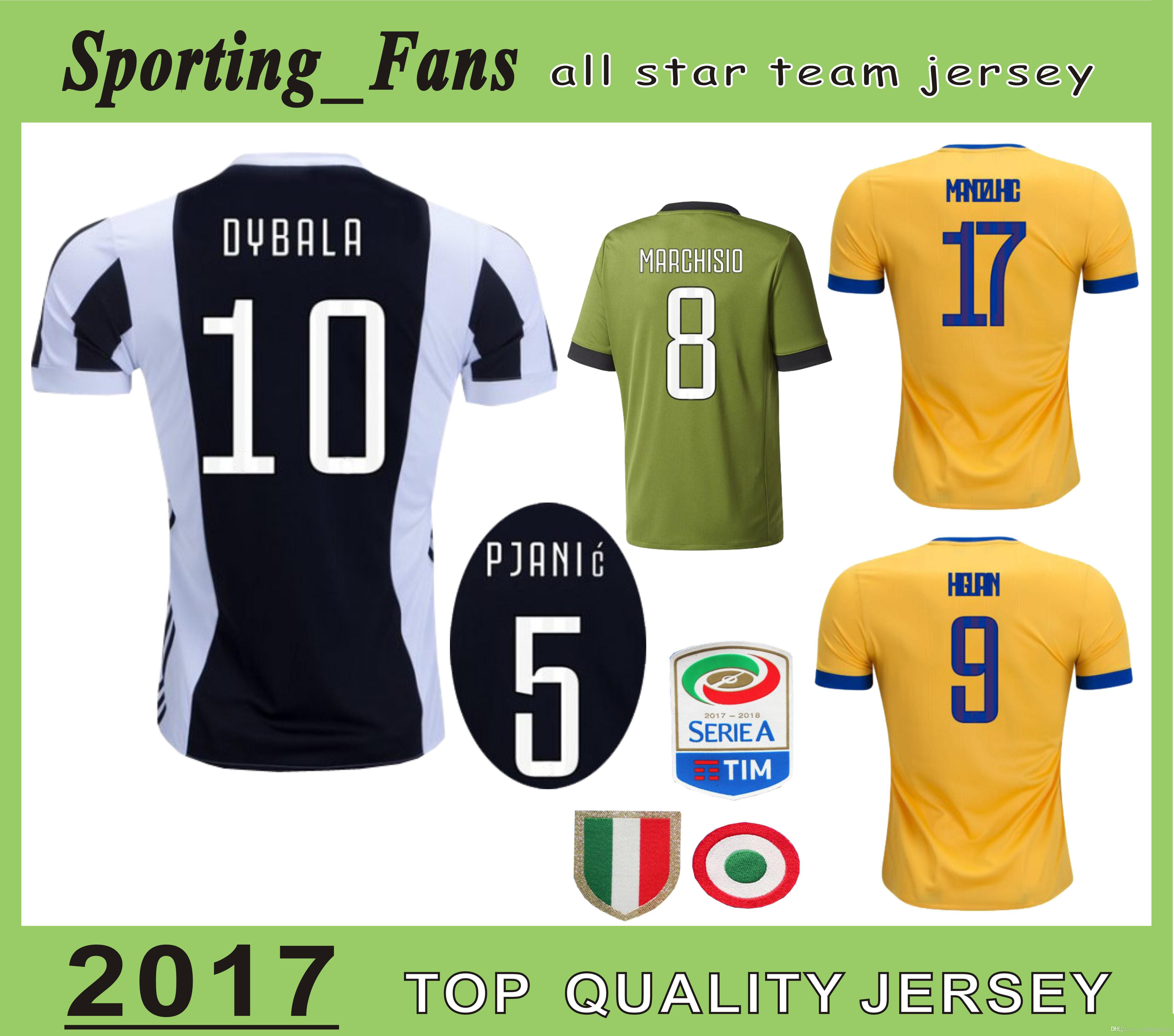 2019 BIG Size S 4XL 17 18 DYBALA Soccer Jersey With All Patches Serie A Or  Champions Cuadrado PJANIC Manzukic LICHTSTEINER Foot Camisa Jersey From ... 8a2e654b2
