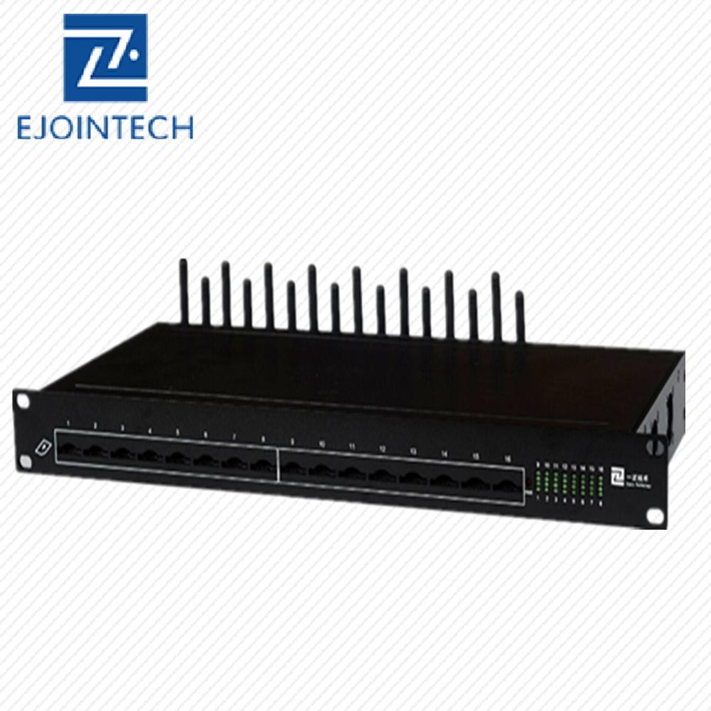 VoIP SMPP gsm sms modem 16 ports modem pool 16 sim for bulk sms sending  receiving forwarding online with free sms server