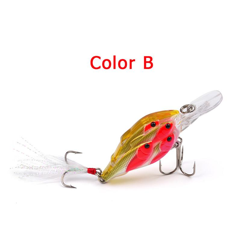 ABS Plastic Shad Crank bait Fly Fishing Hard lures 7cm 6.5g 3D eyes Live Target Minnow bait
