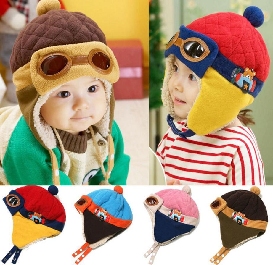 Baby Winter Hat Toddlers Cool Baby Boy Girl Infant Winter Pilot Warm Kids Cap Hat