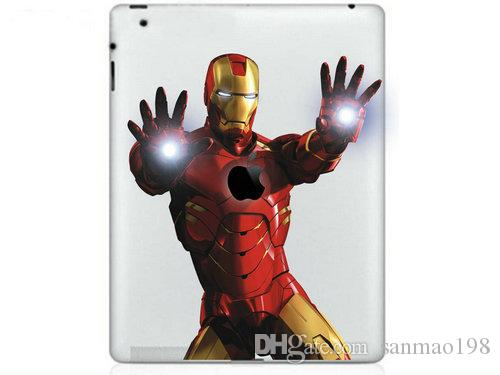 Hot Originality Iron Man series Vinyl Tablet PC Decal Color Sticker Skin for Apple iPad 1 /2 / 3 / 4 / Mini Laptop Skins Sticker