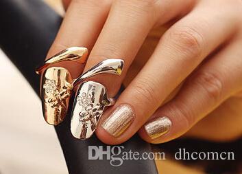 Anello del chiodo del fiore del Rhinestone della libellula i monili svegli della regina dei monili di modo delle donne retro stile coreano DHL libera il trasporto