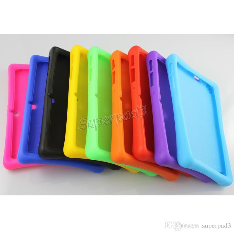 huge selection of 895af 89ad1 Thick Soft Silicone Rubber Protective Back Cover Case For Q88 7 Inch  Android Tablet PC Case