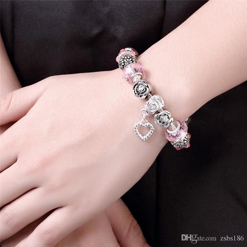 Moda charme cordão pulseira 925 jóias de prata esterlina estilo Clássico Hot jóias de alta qualidade frete grátis