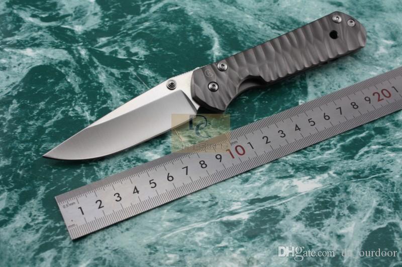 Chris Reeve Classic Sebenza 21 Cuchillos plegables 440C Hoja de lija Acero Mango Supervivencia Herramienta táctica al aire libre EDC