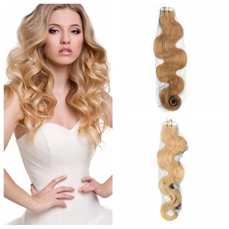 Wholesale 14 24 100g Tape In Human Hair Extension Body Wave