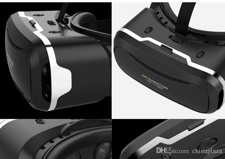 Atacado-VR SHINECON 2nd VersionVirtual Realidade Óculos Fone De Ouvido para Vídeos em 3D Filmes Jogos Compatíveis com a Maioria Dos 3.5