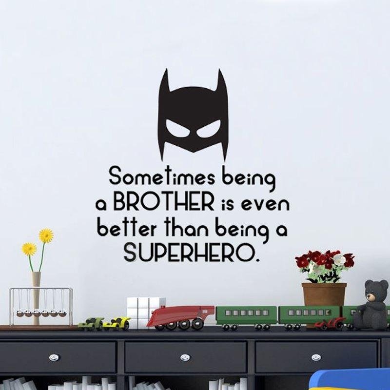 Sometimes Being A Brother Is Even Better Than Being A Superhero - Large superhero wall decals