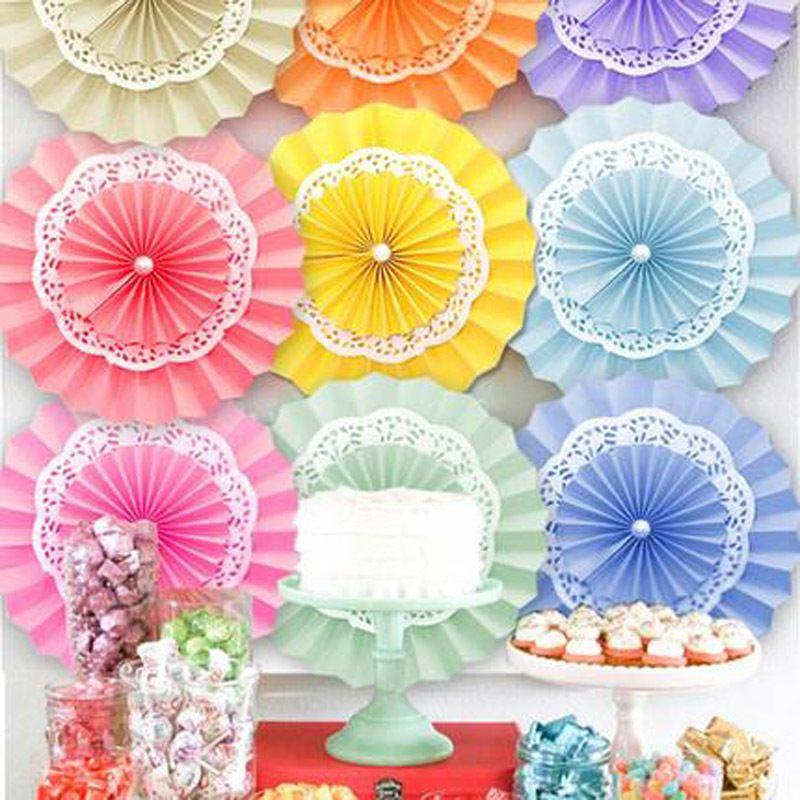 2018 820cmTissue Paper Fan Flowers For Wedding Birthday Party