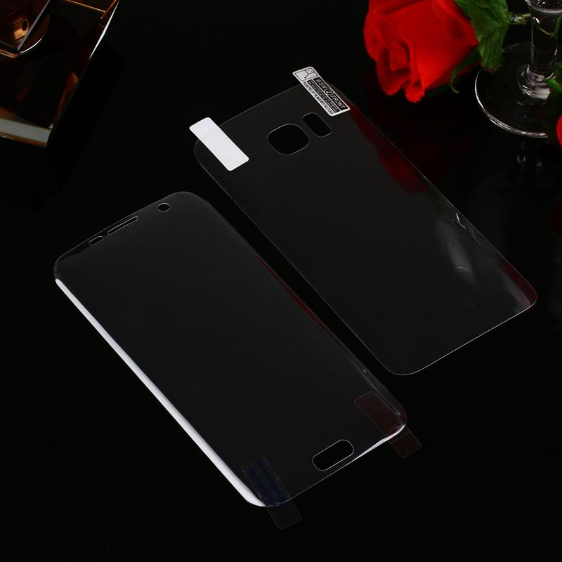 3D Bending Curved Front+Back Screen Protector For Galaxy Note9 S9 S8 S7/edge/S6 Plus 0.1MM PET Part Full Cover Surface Bending 2in1 Film+Box