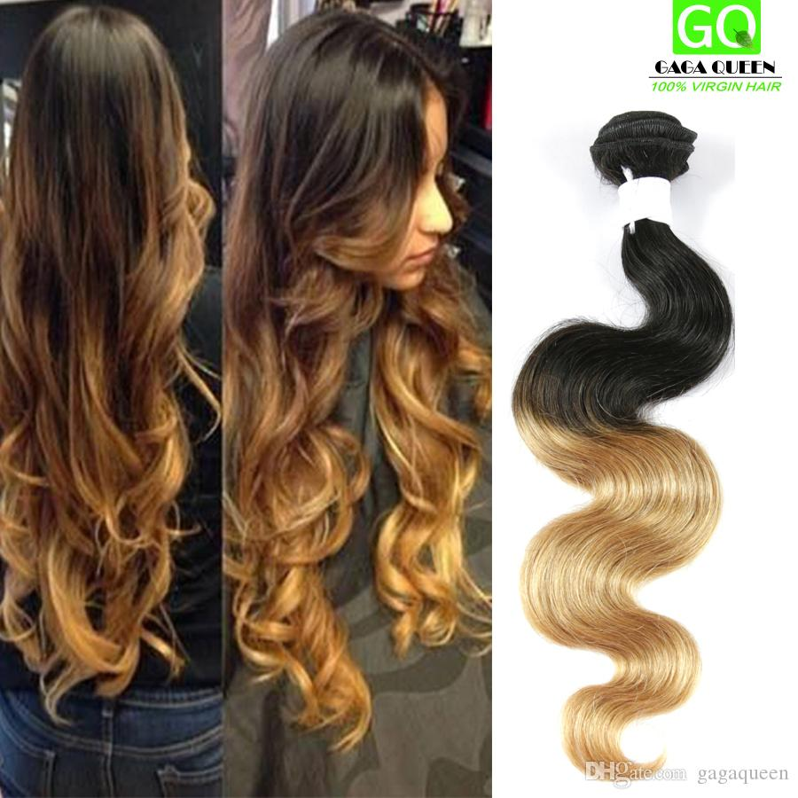 Ombre Synthetic Hair Soft 7a Mink Brazilian Synthetic Hair Weave 4