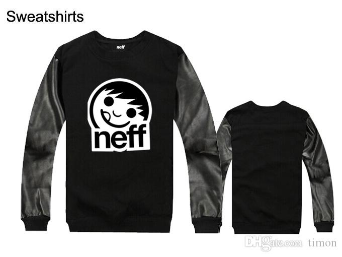 Neff Sweatshirts Casual hiphop mens Pure Cotton/pu leather silm fit new design male Sportswear Clothing hoodies