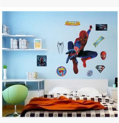 3d Spiderman Wall Stickers For Kids Rooms Decals Home Decor Personalized  Kids Nursery Wall Sticker Decoration For Boy Room Flower Wall Decal Flower  Wall ...
