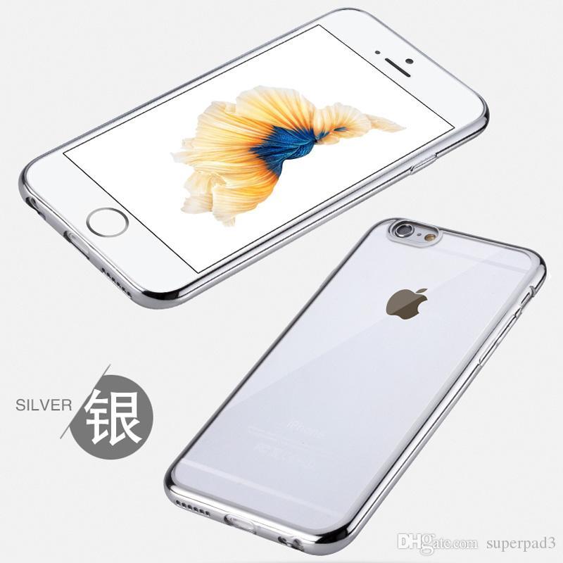 TPU Kaplama iphone için ultra-ince vaka 6 6 artı samsung s7 kenar kir-dayanıklı anti-parmak izi Kapsamlı koruyucu kapak