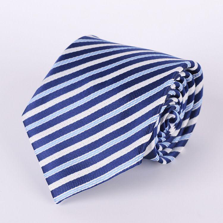 Corbata de cuello a rayas 145 * 8 cm es Corbata de jacquard ocupacional Corbata de flecha para el día del padre Corbata de negocios para hombres Regalo de Navidad Libre TNT