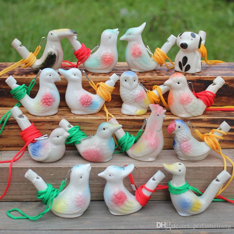 Creativo Water Bird Fischio Clay Bird Ceramica Satinato Canta Giocattoli bambini Festa di Natale regalo Spedizione gratuita ZA4340