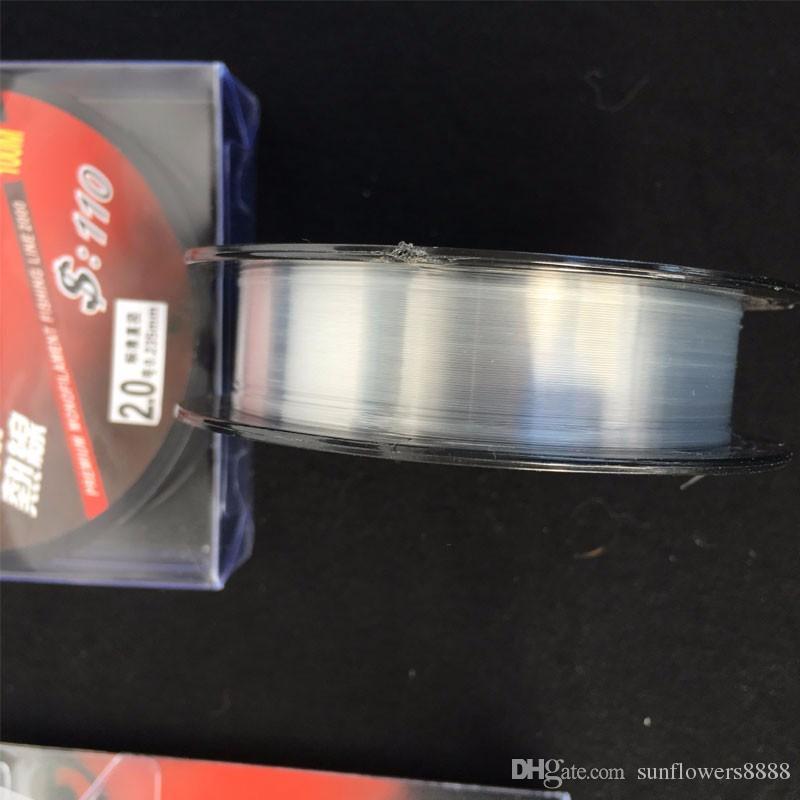 100 Mt Nylon Fluorocarbon Angelschnur 0,1-0,5mm Carbon Fibre Leader Lines Hohe Qualität Neue Red Wolf marke