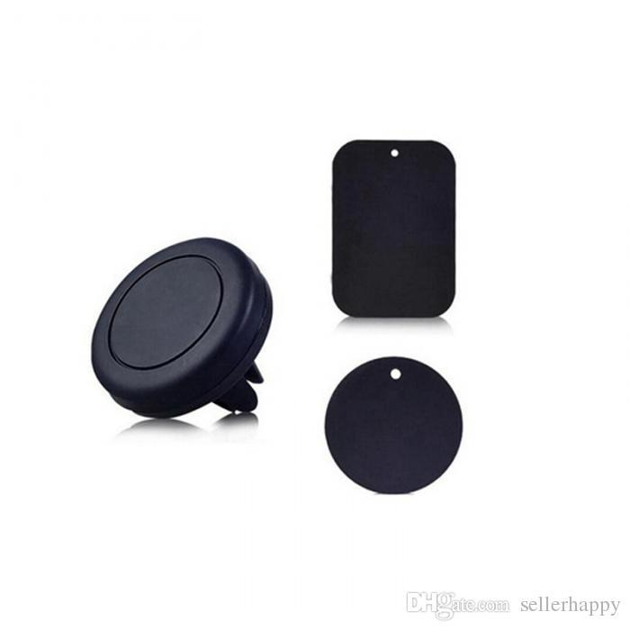 Автомобильный Держатель Мобильного Телефона Сброса Воздуха Маунта Магнитный Всеобщий Для Samsung Galaxy S7 S6 IPhone Автомобильный Держатель С Розничным Пакетом Цветастым